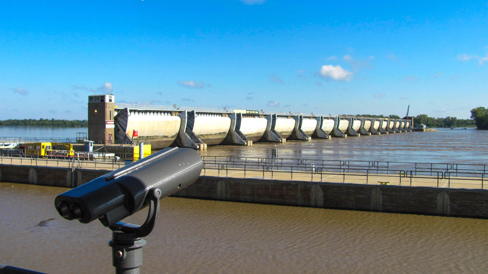 Clarksville Lock and Dam Viewing Area
