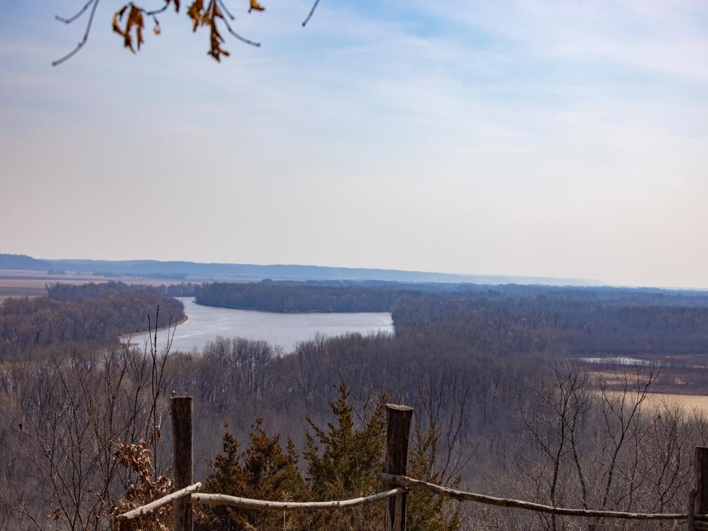 Overlooking the Illinois River Valley from an overlook at the McCully Heritage Project