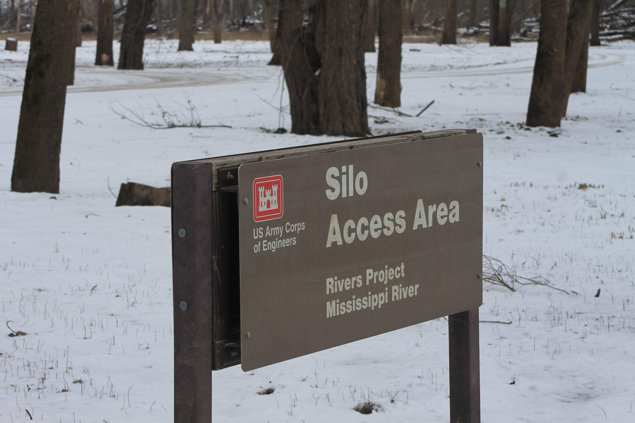 Silo Access Sign US Army Corps of Engineers
